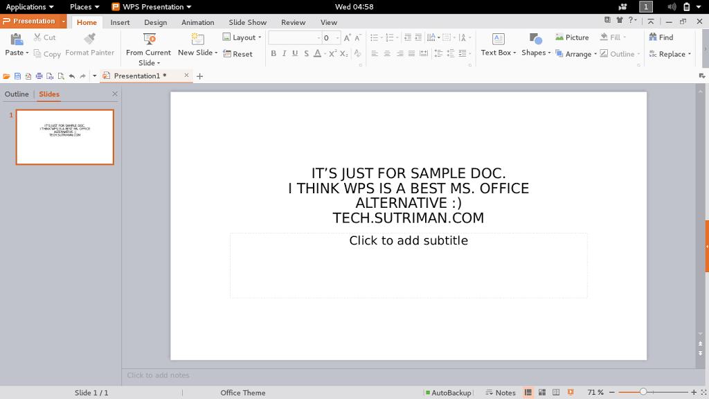 tech office alternative. WPS Presentation \u2013 Ms. Power Point Alternative Tech Office N